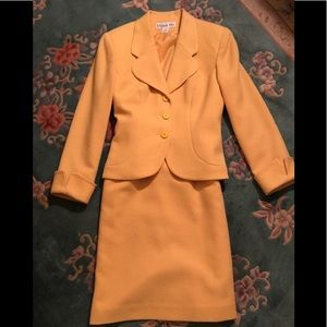 Woman's Golden Yellow Two-piece Wool Suit